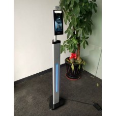 Richtech AATSS V1 - Automated AI Temperature Screening Kiosk System, Standalone Version; Package with Floor Stand