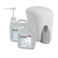 1 Litre 80% Alcohol Liquid Hand Sanitiser (WHO Formula) w/ Pump & Dispenser Options