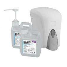 1 Litre 80% Alcohol Liquid Hand Sanitiser (WHO Formula) w/ Pump & Dispenser Options
