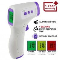 THE-292 Non Contact IR Forehead Thermometer Human Body and Object Temperature Meter Color LCD Fever Indicator, One Sec Quick Response